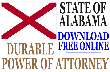 Durable Power of Attorney Alabama