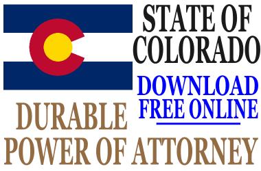 Durable Power of Attorney Colorado