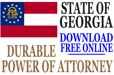 georgia durable power of attorney free durable power of