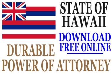 Durable Power of Attorney Hawaii