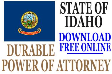 Durable Power of Attorney Idaho