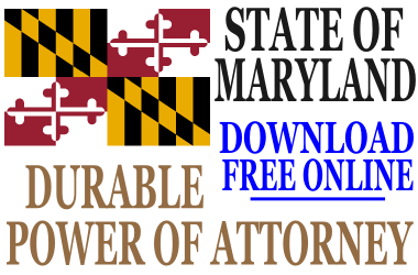 Maryland Durable Power of Attorney - Free Durable Power of ...