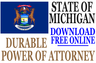 Michigan Durable Power of Attorney - Free Durable Power of ...