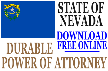 Nevada Durable Power of Attorney - Free Durable Power of Attorney Form