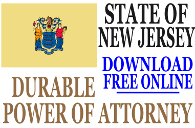 New Jersey Durable Power of Attorney - Free Durable Power of ...