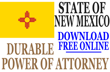 New Mexico Durable Power of Attorney - Free Durable Power of ...