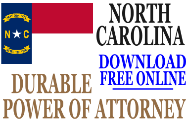 North Carolina Durable Power of Attorney - Free Durable Power of ...