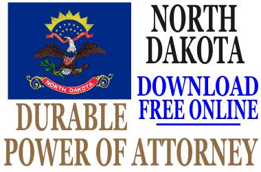 Durable Power of Attorney North Dakota