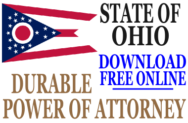 Ohio Durable Power of Attorney - Free Durable Power of Attorney Form