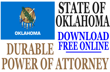 Oklahoma Durable Power of Attorney - Free Durable Power of ...