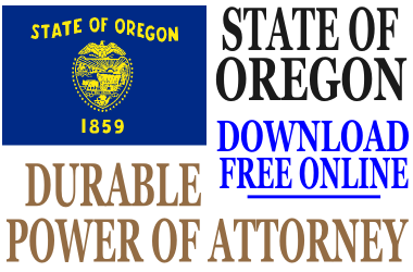 Durable Power of Attorney Oregon