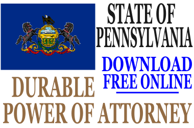 Pennsylvania Durable Power of Attorney - Free Durable Power of ...