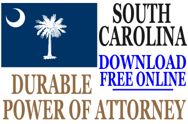 South Carolina Durable Power of Attorney - Free Durable Power of ...