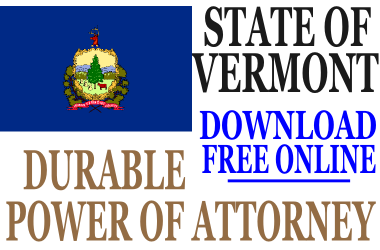 Durable Power of Attorney Vermont