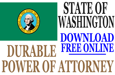 Washington State Durable Power of Attorney - Free Durable Power of ...