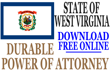 Durable Power of Attorney West Virginia