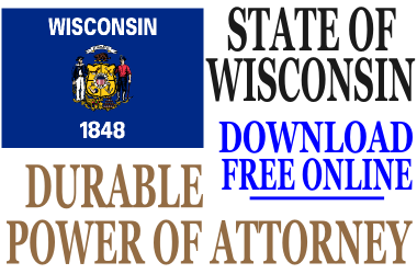 Durable Power of Attorney Wisconsin